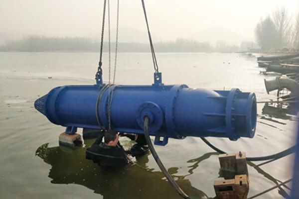 安装取水口水泵