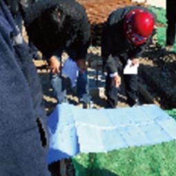 咨询部专家组对八里台示范小城镇三期安置区项目基础验收检查
