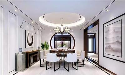 天津家庭竞博电竞设计为您分享,新中式别墅软装技巧攻略